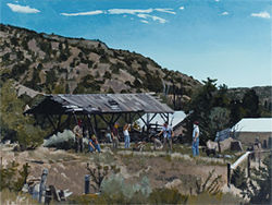 """Rebels in the Sierra de Tardienta,"" by John Hull, oil on canvas."
