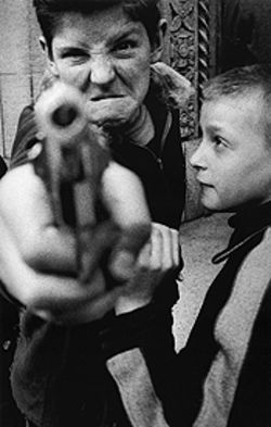 &quot;Gun 1,&quot; by William Klein, gelatin silver print.