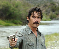 Josh Brolin goes outlaw as Llewelyn Moss in No Country for Old Men.