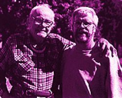 "Queer theory: Patrick Gourley (right) with Harry Hay, from whom he got his ""Ph.D. in Queerdom."""