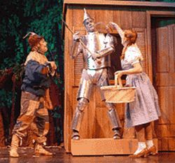 Scott Beyette, John Scott Clough and Emily Van Fleet  in The Wizard of Oz.