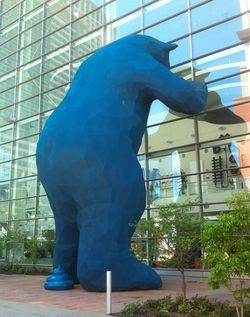 "The Big Blue Bear, or ""I See What You Mean,"" suffered from a prank last year ."