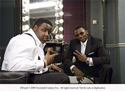 Jamal Woolard (left) and Derek Luke are Notorious.