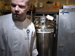Ian Kleinman is cooking with gas &amp;ndash; liquid nitrogen, to be exact &amp;ndash; in the kitchen at O&#039;s.