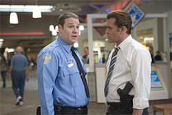 Seth Rogen and Ray Liotta in Observe and Report.