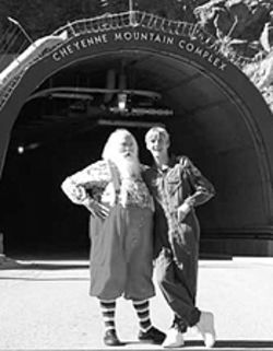 The Santa clause: Aaron Carter goes underground at NORAD.