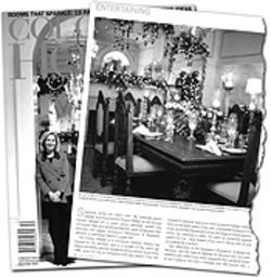 First decorator: Frances Owens puts on a holiday face 