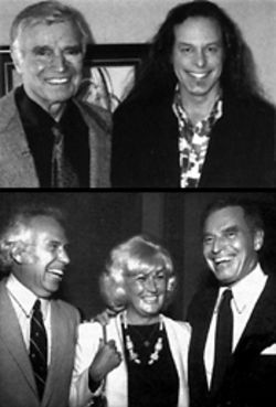 Ted Nugent (above) and Jake Jabs (below, left) are both chums with Charlton Heston. You may remember Heston from such films as The Fantasy Film Worlds of George Pal and Wayne's World 2.