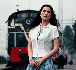 Sentimental journey: Gong Li tries to stay on track in  Zhou Yu's Train.