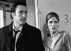 Scare tactics: John Cusack and Amanda Peet in  Identity.