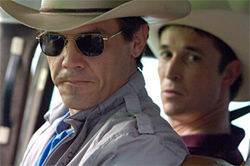Josh Brolin (left) and Noah Wyle in W.
