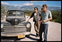 Sam Riley and Garrett Hedlund star in On the Road.