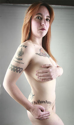 I ink, therefore I am: Michelle Ormond derails sexual urges with tattoos.