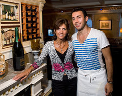 It&#039;s Greek to them: Angie Stathopoulos and son Nick at the Athenian. See a full slideshow from The Athenian.