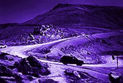 "John Fielder, ""The Pikes Peak Toll Road,"" color photo."