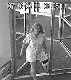 The final Pinky T fax arrived three weeks ago. Zinna claims that the woman seen entering a Kinko's at that time is Sheri Sheehan, the county commissioner's wife.