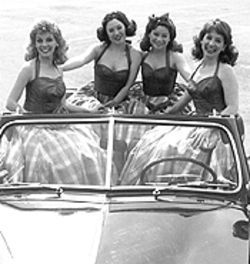 Laurie Gabriel, Kristin Hathaway, Michelle Paul and Margie Lamb (from left) in The Taffetas.