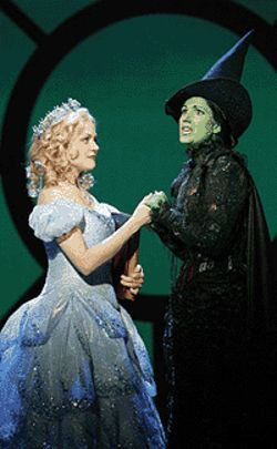 Kendra Kassebaum and Stephanie J. Block in  Wicked.