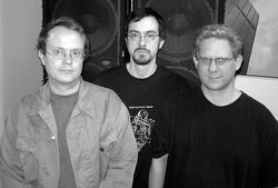 Page-turners: Michael Nowak (from left), John Gross and John Rasmussen are Page 27.