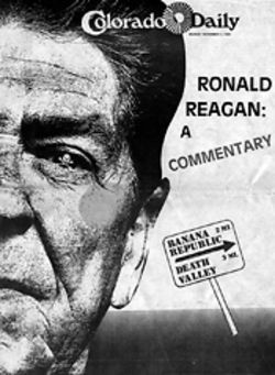 The cover of 1984&#039;s anti-Reagan issue.