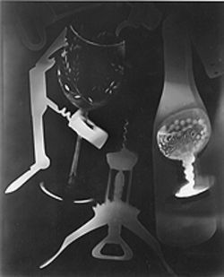 """Vino: 'Hal-o-gram,'"" by Hal Gould, photogram."