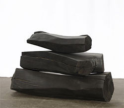 """Blackened Stack,"" by Patrick Marold, carved and charred maple."
