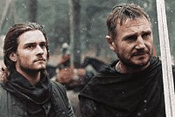 Sins of the father: Orlando Bloom and Liam Neeson in  Kingdom of Heaven.