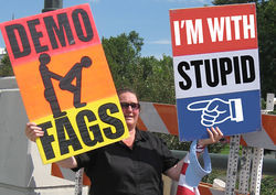 Westboro Baptist Church picketed during the Democratic National Convention in Denver in 2008.
