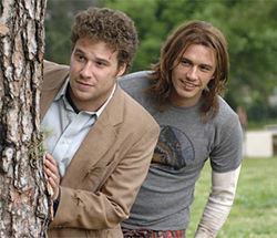 Seth Rogen and James Franco smoke dope and fight crime in Pineapple Express.