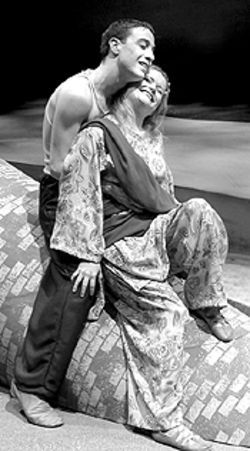 Neil Truglio and Kaliea Schutz in Lysistrata.