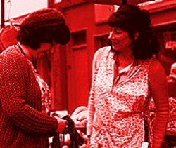 That's what friends are for: Anjelica Huston (right) and Marion O'Dwyer in Agnes Browne.
