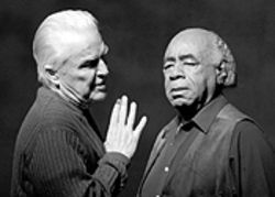 Anthony Zerbe and Roscoe Lee Browne in Behind the Broken Words.