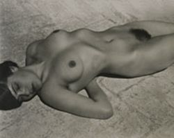 """Nude 23,"" by Edward Weston, silver print."