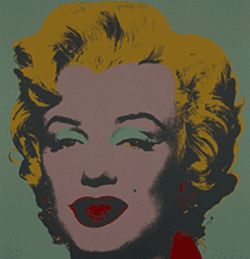 "Image from ""Marilyn Monroe (Marilyn),"" screen print  by Andy Warhol."