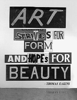 """Art...Hopes for Beauty,"" by Gary Sweeney, discarded signs."