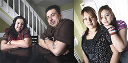 Rosy and Sam Martinez (left) have turned their lives around — and their daughters Carmen and Jeny have forgiven them their past sins.