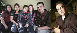 Rosy, Carmen, Rudy, Jeny and Sam Martinez (left) have a new home — and life — in Aurora; David Medina (right) has followed their progress.