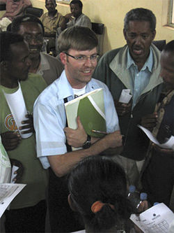 K.C. O'Keefe tests potential super tasters in Ethiopia.