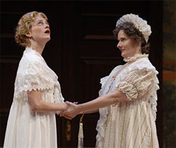 Brenda Withers (left) and Jeanne Paulsen in Pride and Prejudice.