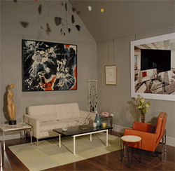 Sitting-room installation with furniture, by Florence Knoll.
