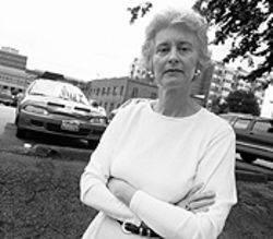 A thirty-year resident of Congress Park, Kathleen Hynes is opposed to the Morgan Group's proposal.
