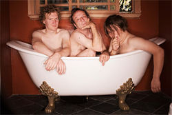 The band that bathes together...