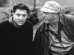 White Noyce: Brendan Fraser and Michael Caine sound off in The Quiet American.