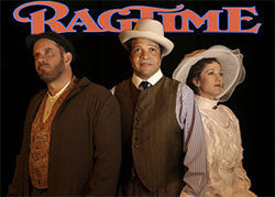 Wayne Kennedy, Jeffrey Nickelson and Shelly Cox-Robie in Ragtime.