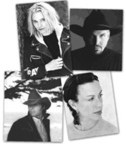 Clockwise, from top left: Aimee Mann, Garth Brooks, Alanis Morissette, and Dwight Yoakam have lent their support to Artists Against Piracy. Noah Stone put his musical career on hold to take on Napster.