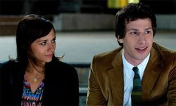 Rashida Jones and Andy Samberg in Celeste and Jesse Forever.