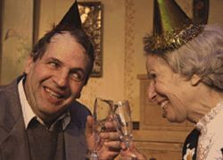 Worth toasting: Lawrence Hecht and Patty Mintz Figel  in Vigil.