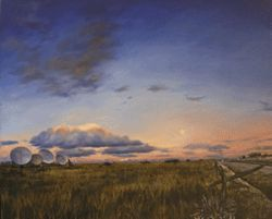 &quot;The Air Above Marfa,&quot; by Don Stinson, oil on linen.
