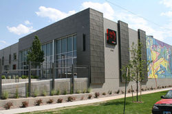 RedLine&#039;s building, which was rehabbed by Semple Brown Design.