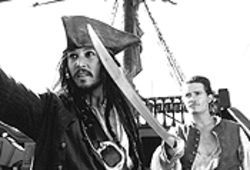 Hot booty: Johnny Depp and Orlando Bloom team up 